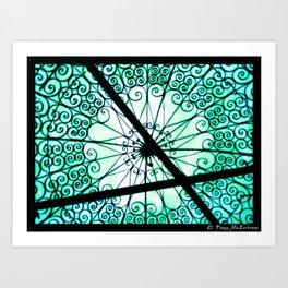 Turquoise Sky_Anne Paint Black Art Print