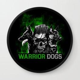 Warrior Dogs Wall Clock