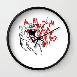 Bear Joker Haha Wall Clock