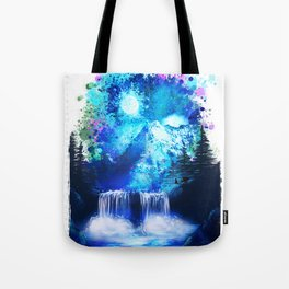 Blue mountain | PRINT | nature print | blue print | home wall decor | poster, gift Tote Bag