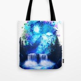 Blue mountain | PRINT | nature print | blue print | home wall decor | poster, gift Tote Bag