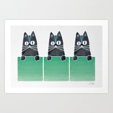 Cats in Boxes Art Print