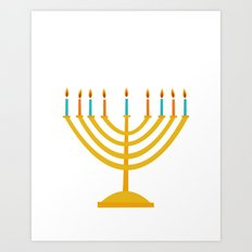 Holiday 2016: Menorah Art Print
