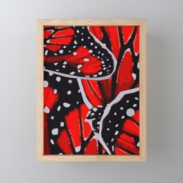 red monarch Framed Mini Art Print