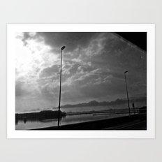 World in black&white Art Print