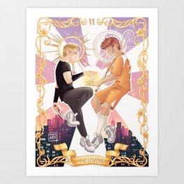 The lovers. Art Print