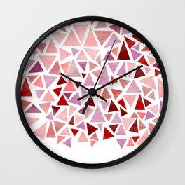 geometric abstract triangle pattern Wall Clock