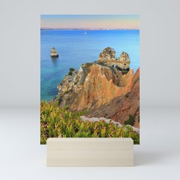 Praia Do Camilo At Sunset. Algarve. Portugal Mini Art Print