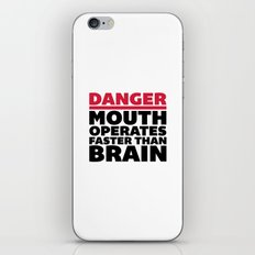Mouth Faster Than Brain Funny Quote iPhone & iPod Skin