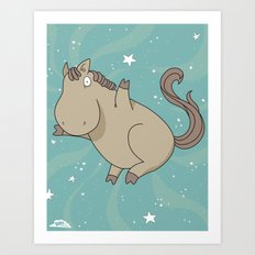 Super Horse: Yay! Art Print