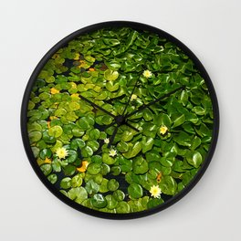 Lilly Pads Green Gradient Bloom Wall Clock