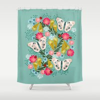 Buckeye Butterly Florals by Andrea Lauren  Shower Curtain