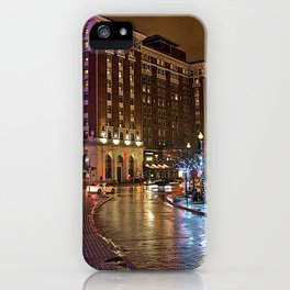 Amway Hotel at night iPhone Case