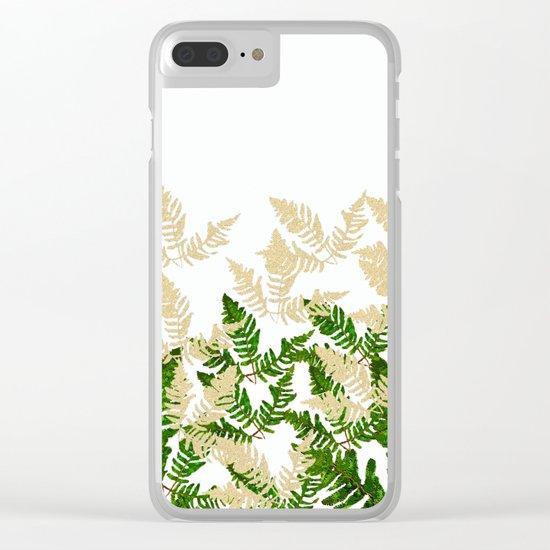 PALM LEAF FERN LEAF TROPICAL Clear iPhone Case