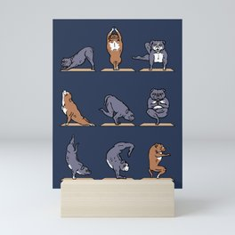 American Pit Bull Terrier Yoga Mini Art Print