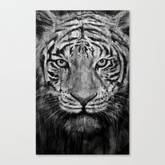 Tiger Black & White Canvas Print