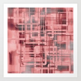 Negative Film Red Pink Pattern Abstract Art Print
