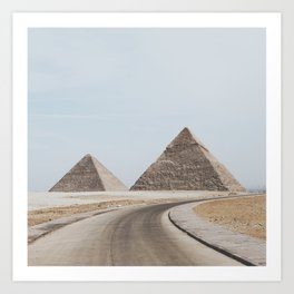Pyramids of Giza Art Print