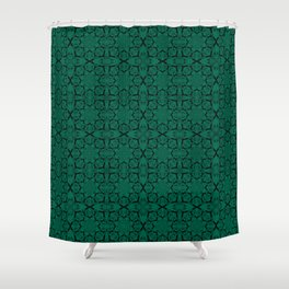 Lush Meadow Geometric Shower Curtain