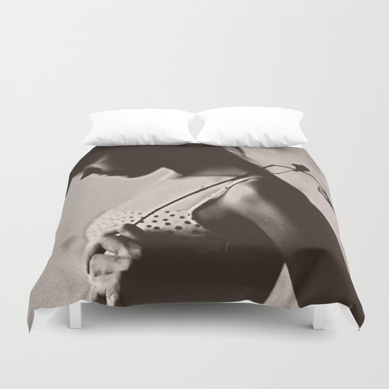 the girl Duvet Cover