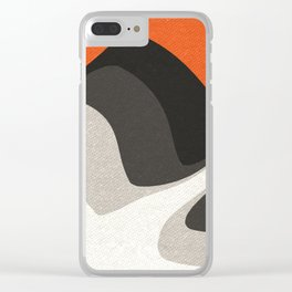 Abstract orange shapes Clear iPhone Case