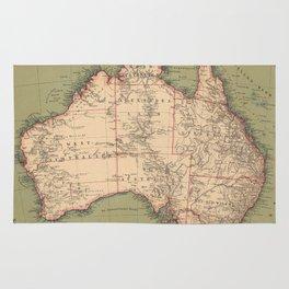 Vintage Australian Topography Map (1888) Rug