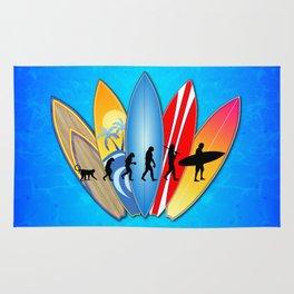 Surfing Evolution Rug