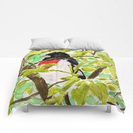 Watercolor Bird Comforters