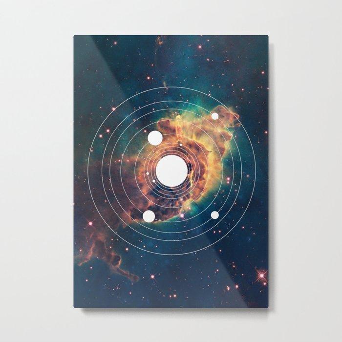 Solar System Near Nebula Metal Print