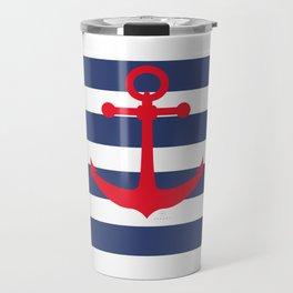 AFE Nautical Red Ship Anchor Travel Mug