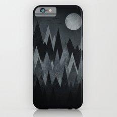 Dark Mystery Abstract Geometric Triangle Peak Wood's (black & white) iPhone 6s Slim Case