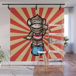 Ape Drummer Wall Mural
