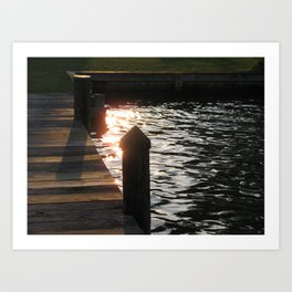 Sunset Pier Art Print