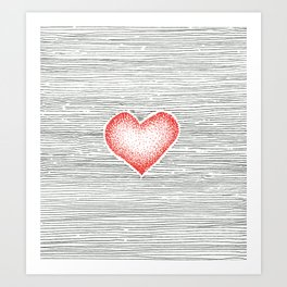 I love you this much Art Print