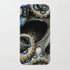 blue ring skull Slim Case iPhone X