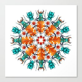 Bug Mandala Canvas Print