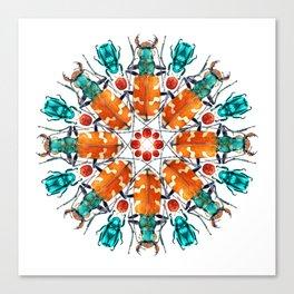 Bug Mandala Canvas Print