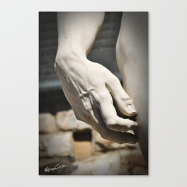 """The Hand of """"David di Michelangelo"""", Florence Tuscany Canvas Print"""