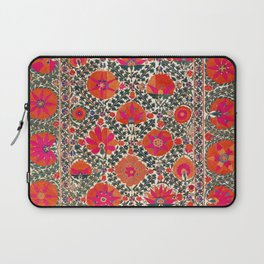 Kermina Suzani Uzbekistan Colorful Embroidery Print Laptop Sleeve