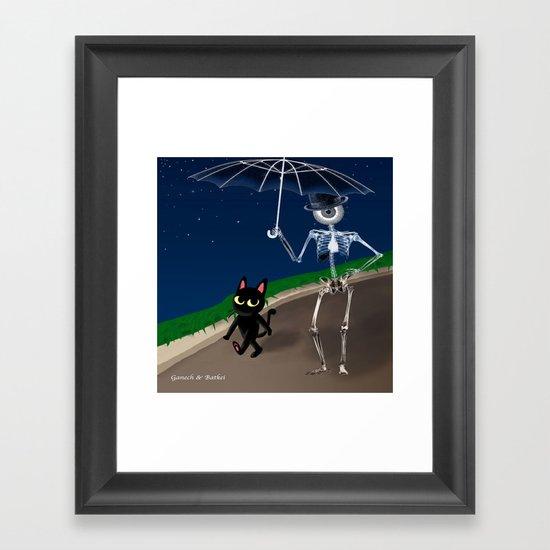 """""""Walk of Night"""" Framed Art Print"""