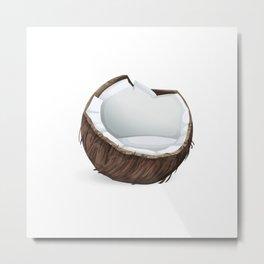 Cracked Coconut Metal Print