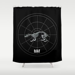 Rat Animal Totem Shower Curtain
