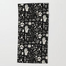 Curiosities: Bone Black Beach Towel