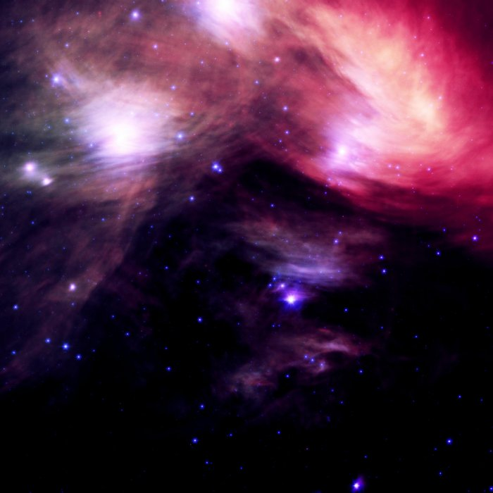 Galaxy : Pleiades Star Cluster nebUlA Purple Pink Comforters