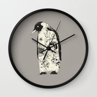 penguin Wall Clocks featuring THE PENGUIN by Huebucket