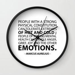 MARCUS AURELIUS - MOTIVATIONAL QUOTES Wall Clock