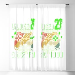Level 27 Unlocked Awesome 1993 Video Game 27th Birthday Blackout Curtain