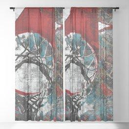Basketball artwork 28 swoosh Sheer Curtain
