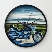 middle earth Wall Clocks featuring Harley Davidson, Middle Earth Edition. by Bodhikai Imagery | Pacific Northwest Tra