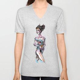 Geisha Bitches n Bones Unisex V-Neck